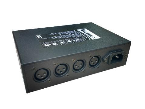 Lumikit PRO X4i - conectores XLR e conector de alimentação