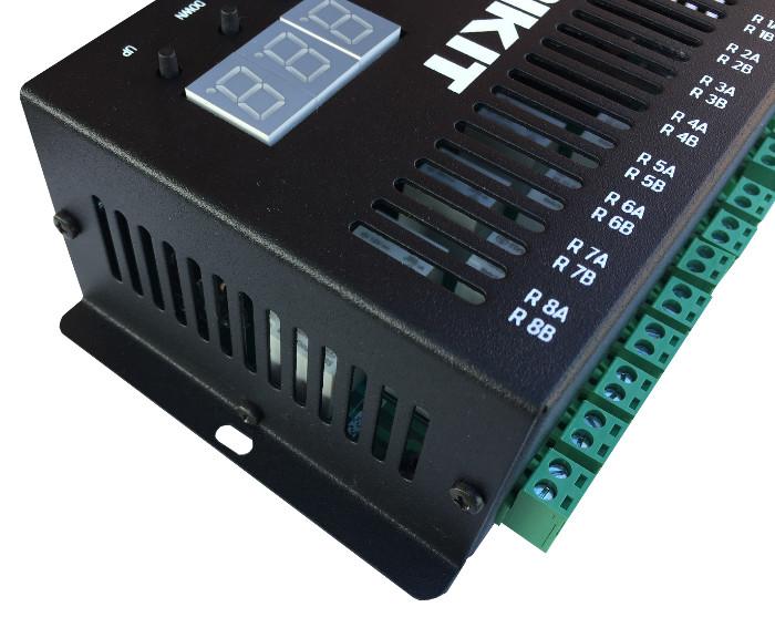 Módulo DMX 8 relês - lado